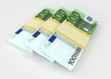 Euro Argent et concepts d'affaires Photo libre de droits
