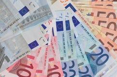 Euro argent liquide image libre de droits