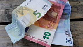 Euro argent liquide Photos stock