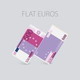 Euro argent plat réglé Image stock