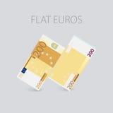 Euro argent plat réglé Photographie stock