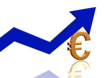 Euro arrow Stock Image