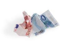 Euro arrugado Fotos de archivo libres de regalías