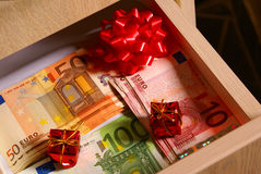 Euro as gifts Stock Photo