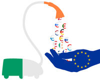 Euro aspirapolvere irlandese Immagini Stock