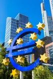 Euro- assine dentro Francoforte Fotografia de Stock
