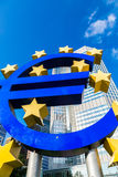 Euro- assine dentro Francoforte Foto de Stock