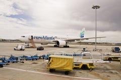 Euro-Atlantisch, Boeing 777-200ER Royalty-vrije Stock Afbeelding
