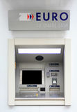 Euro ATM. Euro automatic cash machine, in Paris Royalty Free Stock Photo