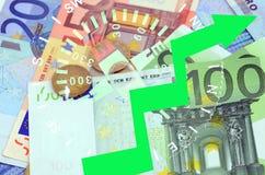 EURO AUGMENTATION Photographie stock