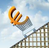 Euro aumento di valuta Immagini Stock
