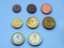 Euro aus Irland Lizenzfreie Stockbilder