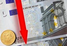 Euro automnes Photo libre de droits