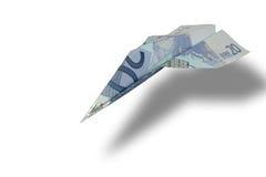 Euro avion Images libres de droits