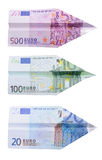 Euro avions Photo libre de droits