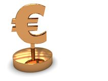 Euro award background Stock Photos