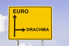 Euro or back to Drachma Royalty Free Stock Photography