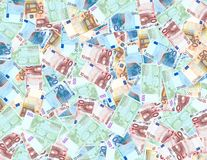 Euro background. Lots of euro money to be used as a background Royalty Free Stock Photo