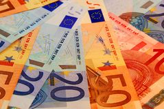 Euro background Royalty Free Stock Photos