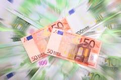 Euro background. 1500 euro in dynamic background Stock Photo