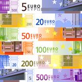 Euro background. Euro banknotes background in vector Royalty Free Stock Images