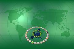 Euro background Royalty Free Stock Images