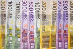 Euro background. A lot of big euro notes Stock Images