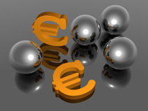 Euro - Background - 3D Royalty Free Stock Image