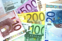 Euro background. Some euro currency for a colored background Stock Image