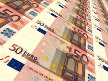 Euro background. Fifty euros. Royalty Free Stock Photography