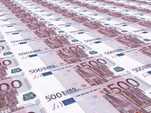Euro background. Five hundred euros. Royalty Free Stock Images