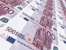 Euro background. Five hundred euros. Stock Image