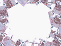 Euro background. Five hundred euros. Stock Photos
