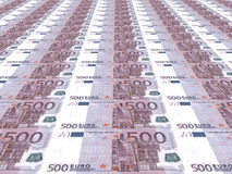 Euro background. Five hundred euros. Royalty Free Stock Photos