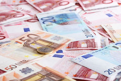 Euro for background. A lot of euro for background Stock Image