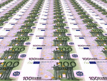 Euro background. One hundred euros. Stock Photography
