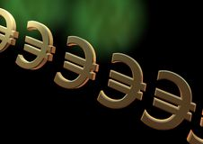 Euro backround Stock Photos