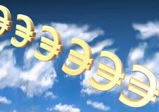 Euro backround Stock Image