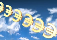 Euro backround Immagine Stock
