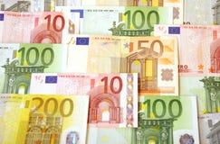 Euro backround d'argent Image libre de droits