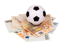 Euro and ball Stock Images