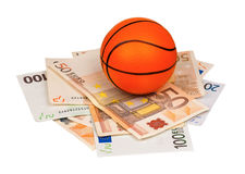 Euro and ball Royalty Free Stock Photos