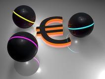 Euro - balls Royalty Free Stock Image