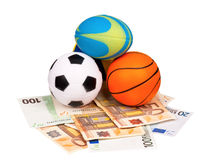 Euro and balls Stock Photography