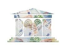 Euro banca Fotografia Stock Libera da Diritti