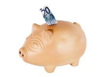Euro banca di porcellino Immagine Stock
