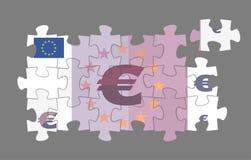 Euro banconota imbarazzata illustrazione di stock