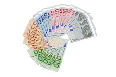 Euro banconote Immagini Stock