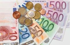 Euro banconote Fotografie Stock Libere da Diritti
