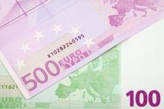 Euro banconote Immagini Stock Libere da Diritti